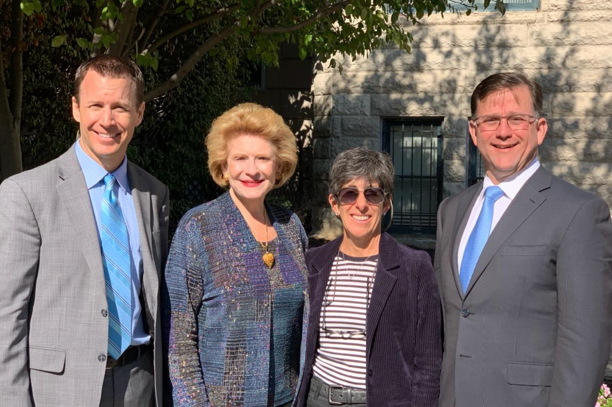 2019.10.15 - Sen Stabenow, D-MI (second from left) with Drs Jameson Finkelstein Henderson.jpg